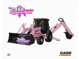 Case Pink backhoe loader