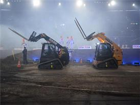 Case TR320 Compact Track Loaders on the Stock Car Challenge