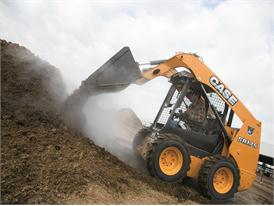 Case SR175 skid steer loader hard at work