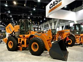 Case 921F wheel loader on the stand at Conexpo 2014