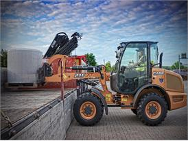 Case 21F XT compact wheel loader in specialist handling guise