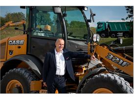 Andy Blandford, Case vice president for construction equipment in EMEA with the New Case F Series Compact Wheel Loaders