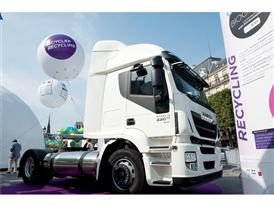 Iveco Stralis LNG truck which will soon be powered by liquefied biomethane