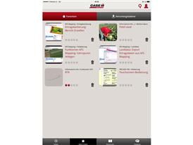 New AFS Academy app from Case IH Screenshot - homepage