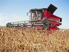 Case IH Axial-Flow Combine Harvester 7240 delivers convincing performance threshing soya