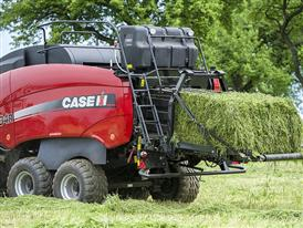 Case IH LB434 large baler equipped with a Liquid Adaptive Supply System
