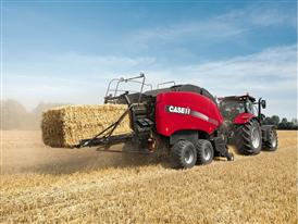 Case IH LB434 large baler in straw
