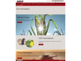 The Case IH redesigned website that offers maximum customer comfort Screenshot - innovations detail