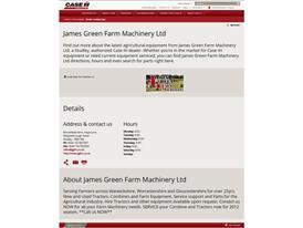 The Case IH redesigned website that offers maximum customer comfort Screenshot - dealer information detail