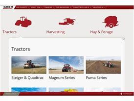 The Case IH redesigned website that offers maximum customer comfort Screenshot