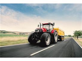 Optum 300 CVX during high speed road transport