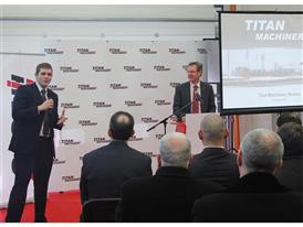 Matthew Foster, Case IH Vice President responsible for EMEA at the Titan Machinery dealership in Ukraine