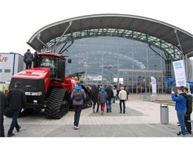 Case IH Qauadtrac outside at the Agrotech show