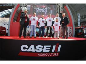 The Case IH team at the Agrotech show