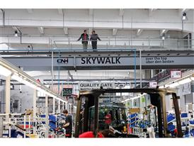 The Skywalk in the St. Valentin plant