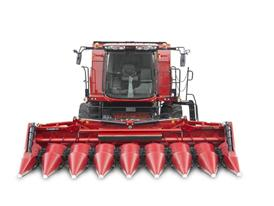 Axial Flow with an eight row maize header