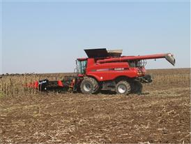 Axial Flow combine during the Case IH press trip to the Balkans