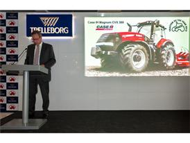 Matthew Foster, Vice President Case IH EMEA accepts the Tractor of the Year Award for the Magnum CVX 380
