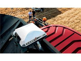 AFS antenna on the roof of an Axial Flow combine