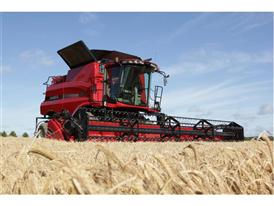 Axial Flow Combine working in wheat