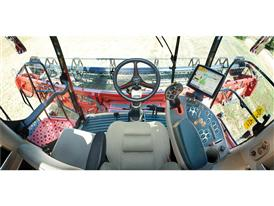 Axial Flow combine's new cab provides a perfect view of the header