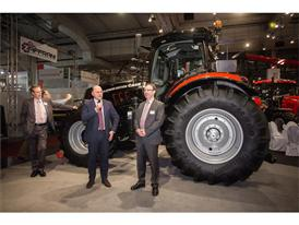 Andreas Klauser, Brand President Case IH presents the new Puma CVX Platinum Edition