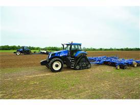 The T8 SmartTrax undertaking cultivation work