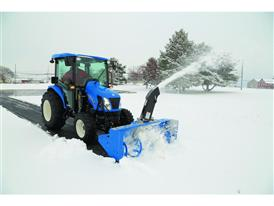 New Holland Boomer™ 54D EasyDrive snow blowing