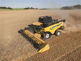 New Holland CX8.85 Elevation Combine Harvester in the Field