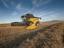 New Holland CX8.80 Elevation Combine Harvester in the Field