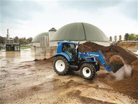 New Holland T6.140 Methane Tractor at the pilot energy independent farm La Bellotta
