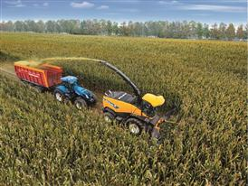 New Holland FR 850 Forage Harvester in Maize