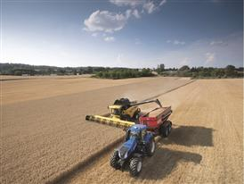 New Holland CX 8090 Elevation Combine Harvester in the Field