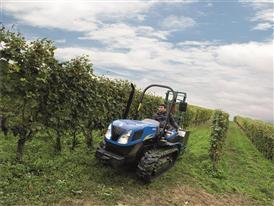 New Holland TK 4030F Tractor in an orchard