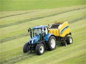 New Holland Roll Belt 150 CropCutter in the Field