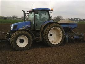 New Holland T6.150 Electro Command at work in a farm near Northampton