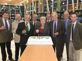 Former County Chairmen at the Essex NFU Centenary celebration held at the New Holland tractor plant in Basildon, Essex
