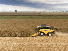 New Holland New CR8.80 Combine in maize