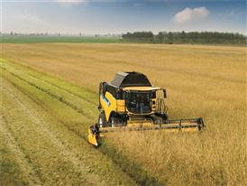 New Holland New CR8.80 Combine in the field