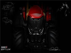 A concept sketch for the New Case IH Optum Tractor by Dwayne Jackson