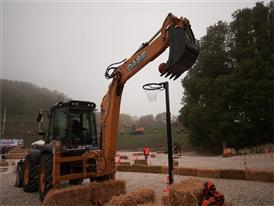 """695ST backhoe loader at the """"Big Thunder Backhoe"""" challenge"""