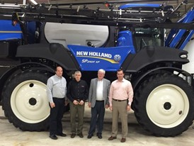 Rep. Grothman (second from right) at New Holland facility in St. Nazianz with Management
