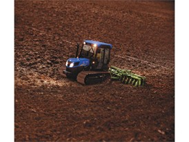 TK4000 with a cab conducting cultivation activities