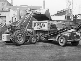 In 1957 Case purchases the American Tractor Corporation and introduces the first factory integrated backhoe loader
