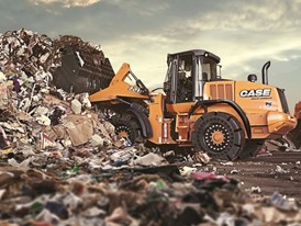 CASE Showcases Offering for the Waste and Recycling Sector at BAUMA 2016. Here a F Series Wheel Loader.