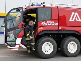 Trip with Magirus SuperDragon X8 Airport Fire Engine