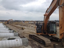Three CASE champions helping getting the job done in the new industrial area in Staphorst, in the North of Holland