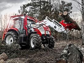 Steyr 6165 CVT Tractor front loader