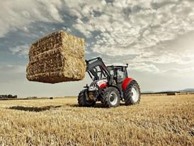 Steyr 4120 Multi Tractor bale handling