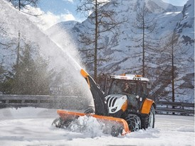 Steyr 6145 Profi Municipal Tractor with snowblower